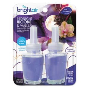 Bright Air Scented Oil Refill, Woods-Vanilla, 0.67 oz, 2 Refills (BRI900272PK)