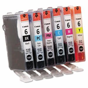 Canon 4705A018 (BCI-6) Ink, 370 Page-Yield, 6/Pack, Assorted (CNM4705A018)