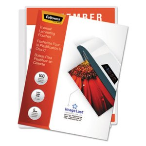 "Fellowes 52040 Thermal Laminating Pouches, 11-1/2"" x 9"", 100 Pouches (FEL52040)"