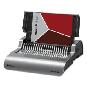 Fellowes Quasar Comb Binding System, 500 Sheets, Gray (FEL5216901)