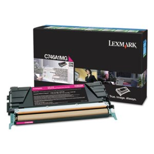 Lexmark C746A1MG Toner, 7000 Page-Yield, Magenta (LEXC746A1MG)