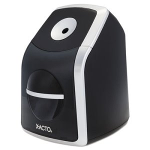 X-acto SharpX Classic Electric Pencil Sharpener, Black/Silver (EPI1771)