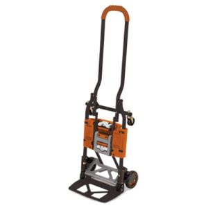 Cosco 2-in-1 Multi-Position Hand Truck and Cart, Gray/Orange (CSC12222BGO1E)