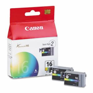 Canon BCI16 (BCI-16) Ink Tank, 75 Page-Yield, 2/Pack, Tri-Color (CNMBCI16)