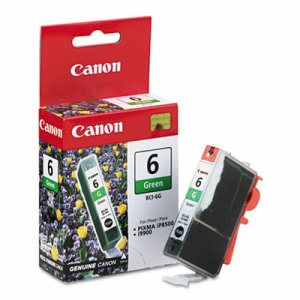 Canon BCI6G (BCI-6) Ink Tank, 370 Page-Yield, Green (CNMBCI6G)
