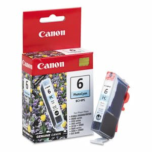 Canon BCI6PC (BCI-6) Ink Tank, 370 Page-Yield, Photo Cyan (CNMBCI6PC)