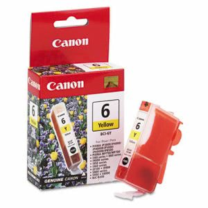 Canon BCI6Y (BCI-6) Ink Tank, 370 Page-Yield, Yellow (CNMBCI6Y)