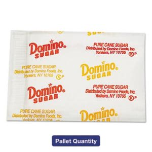 Domino Sugar Portion Packets, 0.010-oz, 2000/Ctns, 72 Ctns/Pallet (DMN845354PLT)