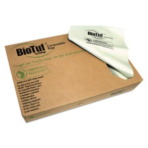 Heritage Biotuf Compostable Can Liners, 30 gal, .88 mil, 33 x 39, Light Green, 150/Carton (HERY6039EER01)