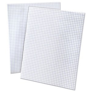 Ampad 15lb Quadrille Pad, Letter, White, 1 50-Sheet Pad/Pack (TOP22030C)