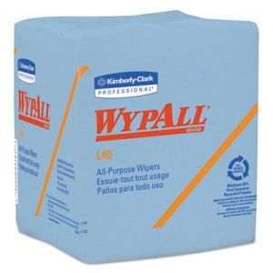 Wypll L40 Quarterfold All Purpose Wipes, Blue, 672 Wipes (KCC 05776)