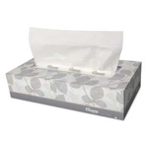 Kleenex White 2-Ply Facial Tissues, 12 Flat Boxes (KCC03076)