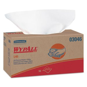 Wypall L40 All Purpose Dry Wipes, 1-PLY, 810 Wipes (KCC 03046)