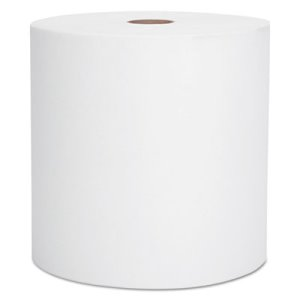 Scott 1000 ft White Hard Roll Towels, 1-Ply, 6 Rolls (KCC 01005)