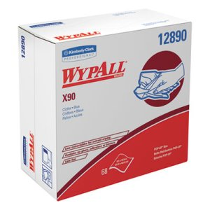 Wypall X90 All-Purpose Blue Wipers, HYDROKNIT, 5 Boxes (KCC 12890)