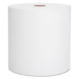 Scott 800 ft White Hard Roll Towels, 1-Ply, 12 Rolls (KCC 01040)