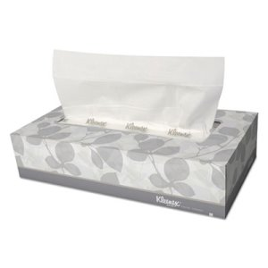 Kleenex White Facial Tissues, 2-PLY, 48 Flat Boxes (KCC 21606)