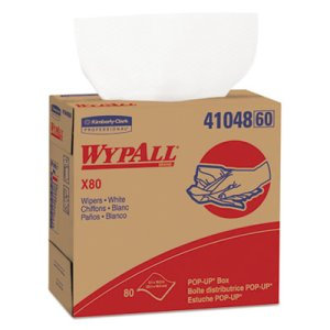Wypall X80 Shop Wipers, White, 400 Wipers (KCC41048)