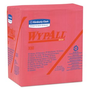 Wypall X80 1/4-Fold Hydroknit Wipers,  12 1/2 x 13, 4 Boxes (KCC41029)