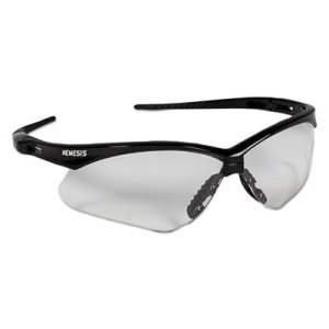 Jackson Safety V30 Nemesis Safety Glasses, Black Frame/Clear Lens (KCC25676)