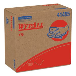 Wypall X70 Heavy Duty Wipers Pop-Up Box, White, 1,000 Wipers (KCC 41455)