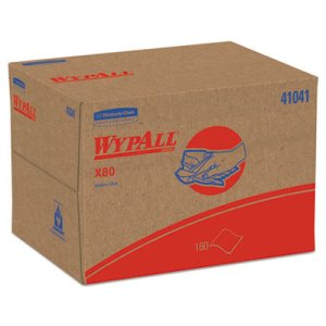 Wypall X80 Heavy Duty Wipers Brag Box, Blue, 160 Wipers (KCC41041)