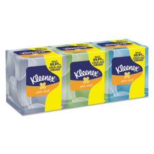 Kleenex 21286 Boutique 3-Ply Anti-Viral Facial Tissues, 12 Boxes (KCC21286CT)
