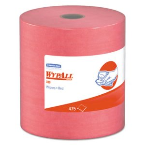 Wypall X80 Jumbo Shop Wipers Roll, Red, 475 Wipers (KCC 41055)