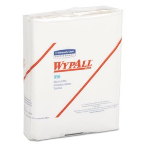 Wypall X50 All Purpose Wipers, White, 832 Wipers/Carton (KCC35025)