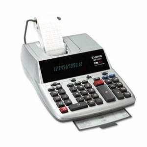 Canon 2-Color Ribbon Printing Calculator, 12-Digit, Black/Red (CNMMP25DVS)