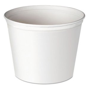Solo 83-oz. Double-Wrapped Unwaxed Paper Buckets, 100 Containers (SCC 5T1UU)