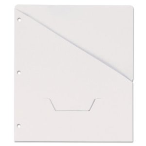 Slash-Cut Pockets for Three-Ring Binders, Letter, White, 10 Binders (UNV61687)