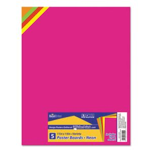 Royal Brites Premium Coated Poster Board, 11 x 14, Assorted, 5/Pack (GEO23500)