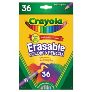Crayola Erasable Colored Woodcase Pencils, 36 Assorted Colors/Set (CYO681036)