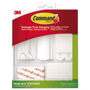 Command Picture Hanging Kit, White/Clear, Assorted (MMM17213ES)