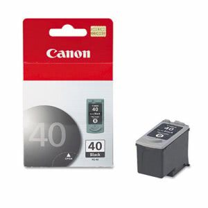 Canon PG40 (PG-40) Ink Cartridge, 195 Page-Yield, Black (CNMPG40)