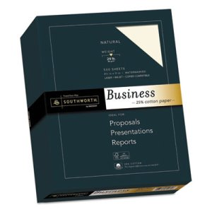 Southworth Cotton Business Paper, 24 lbs., 8-1/2 x 11,  500 Sheets (SOU404NC)