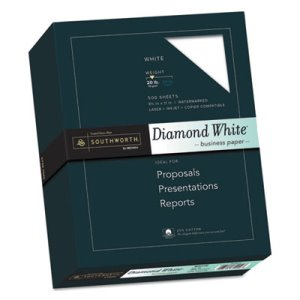 Southworth 25% Cotton Diamond Business Paper, 8.5 x 11, 500 Sheets (SOU3122010)