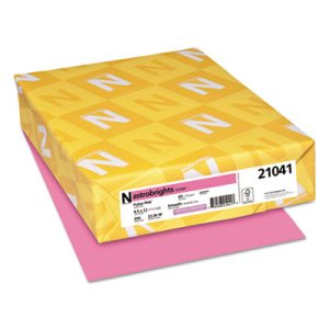 Astrobrights Colored Card Stock, 8-1/2 x 11, Pulsar Pink, 250 Sheets (WAU21041)