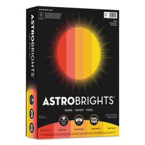 Astrobrights Colored Paper, 8-1/2 x 11, Warm Assortment, 500 Sheets (WAU20272)