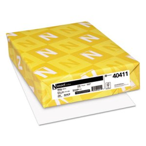Neenah Exact Index Card Stock, 110lb, 8-1/2 x 11, White, 250 Sheets (WAU40411)
