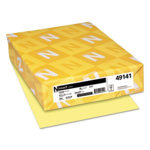 Neenah Exact Index Card Stock, 90 lb.,Canary, 250 Sheets/Pack (WAU49141)