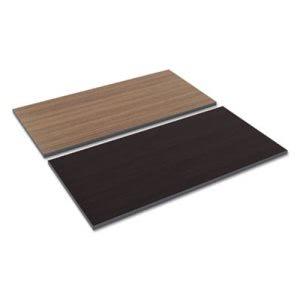 Alera Reversible Laminate Table Top, 48w x 24d, Espresso/Walnut (ALETT4824EW)