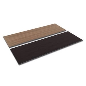 Alera Reversible Laminate Table Top, 72w x 24d, Espresso/Walnut (ALETT7224EW)