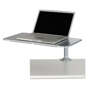Safco Desktop Sit/Stand Workstations, Laptop, Silver (SAF2132SL)