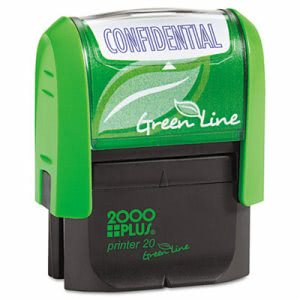 "2000 Plus Green Line ""Confidential"" Message Stamp, Blue (COS098374)"