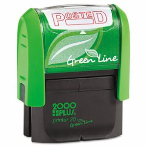 2000 Plus Green Line Message Stamp, Posted, 1-1/2 x 9/16, Red (COS098371)