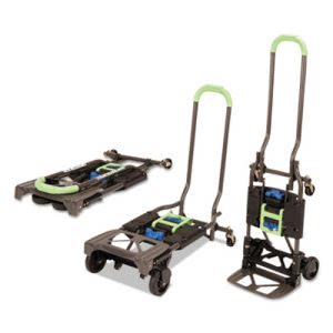 Cosco 2-in-1 Multi-Position Hand Truck and Cart, Blue/Green (CSC12222PBG1E)