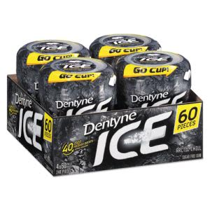 Dentyne Ice Sugarless Gum, Arctic Chill, 60 Pieces/Bottle, 4/Pack (CDB10512)