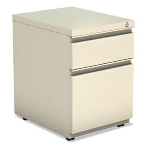 Alera 2-Drawer Metal Pedestal File With Full Length Pull, Putty (ALEPBBFPY)
